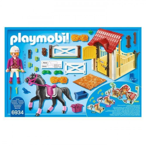 PLAYMOBIL 6934 - Country - Box avec Cavaliere et Cheval Pur-Sang Arabe - Photo 2