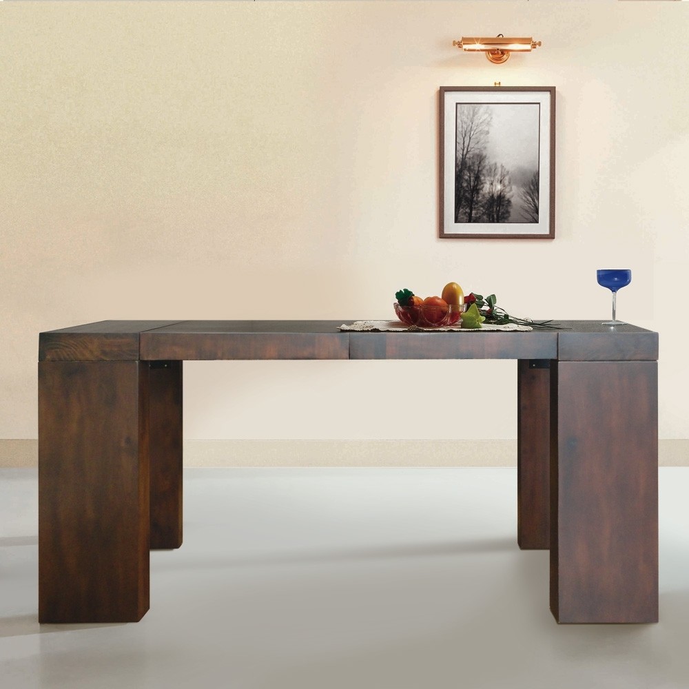 table console extensible en bois massif moody couleur weng. Black Bedroom Furniture Sets. Home Design Ideas