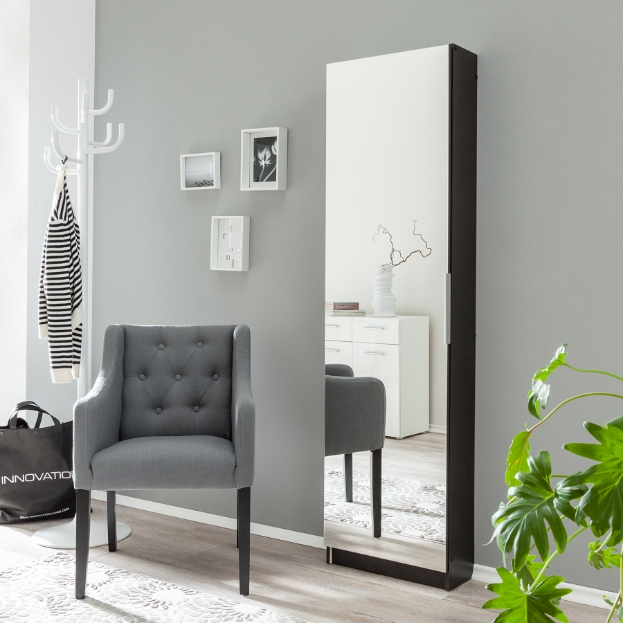 meuble chaussures eb ne miroir 1 porte zeste. Black Bedroom Furniture Sets. Home Design Ideas