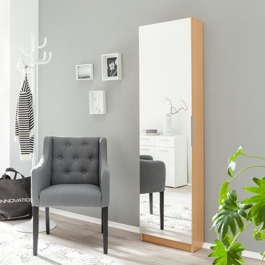 les tendances meuble chaussures h tre miroir 1 porte zeste. Black Bedroom Furniture Sets. Home Design Ideas